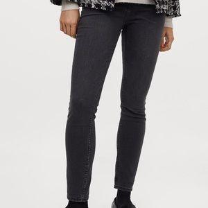 Skinny High Waisted Jeans Dark Denim Grey